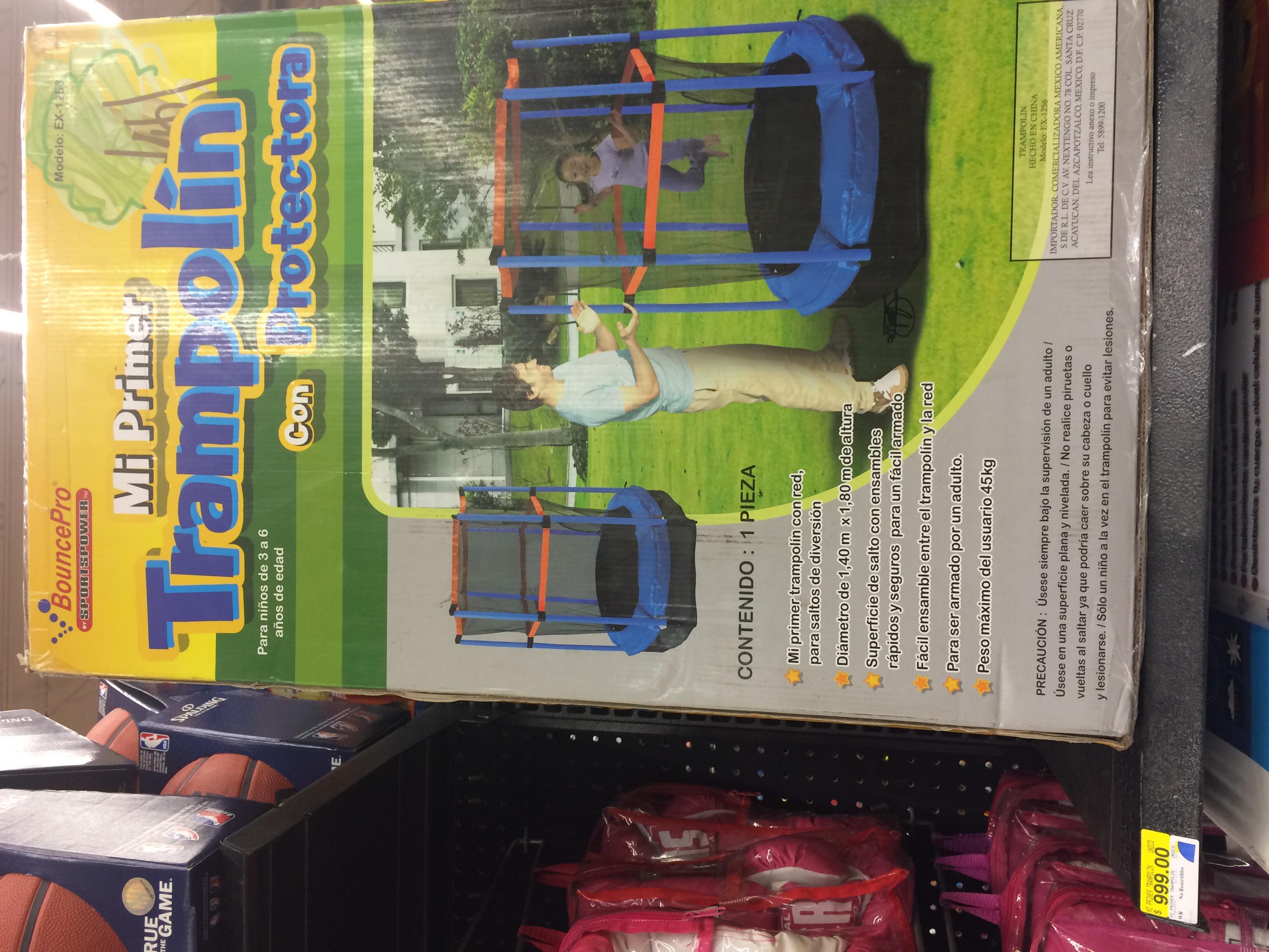 Walmart Mi primer trampolín $999,00