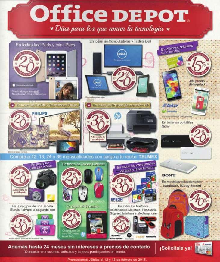 Office Depot: descuentos en iPads, teles Phillips, computadoras Dell, impresoras HP y más