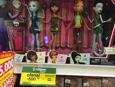 Soriana: muñecas Monster High 5-Pak $500