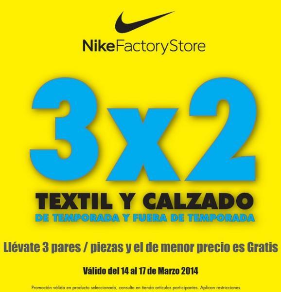 Nike Factory Store: 3x2 en textil y calzado