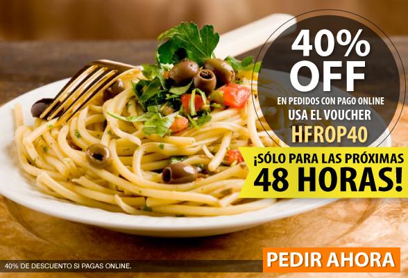 Hellofood: 40% de descuento