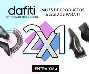 Dafiti: 2x1 en mercancía seleccionado + 15% de descuento extra