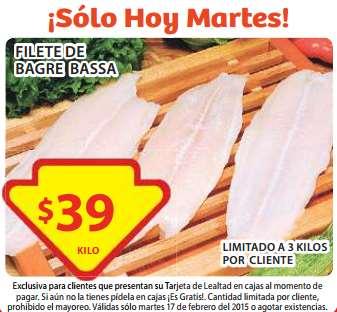 Soriana: filete de bagre bassa $39 el kilo