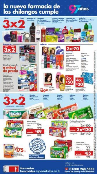 Farmacias Benavides: 3x2 en pañales, limpiadores multiusos y suavizantes, preservativos y más