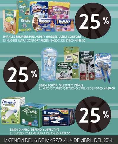 Farmacia San Pablo: 25% de descuento en Huggies, Gillette, Schick y más