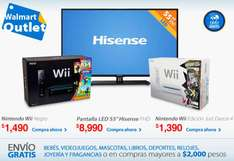 "Outlet Walmart: pantalla LED 55"" $8,990 y Wii $1,390"