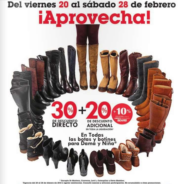 Sears: liquidación de botas y botines