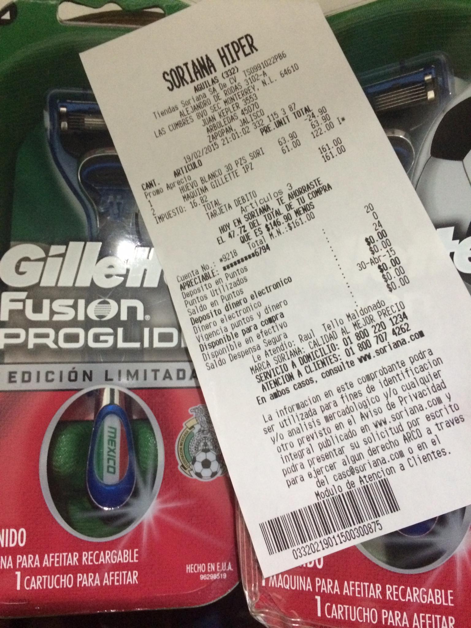 Soriana: Gillette Fusion Proglide Edicion Limitada a mitad de precio.