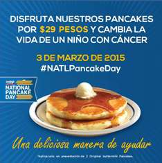 IHOP national pancake day 3 de marzo: pancakes $29