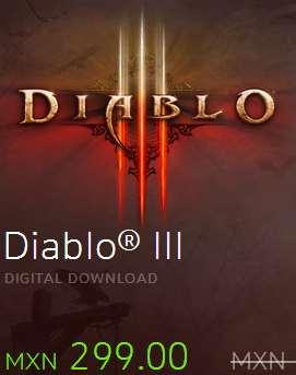 Juegos PC: Diablo III en versión digital $299