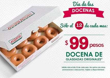 Krispy Kreme: docena de donas a $99 los días 12