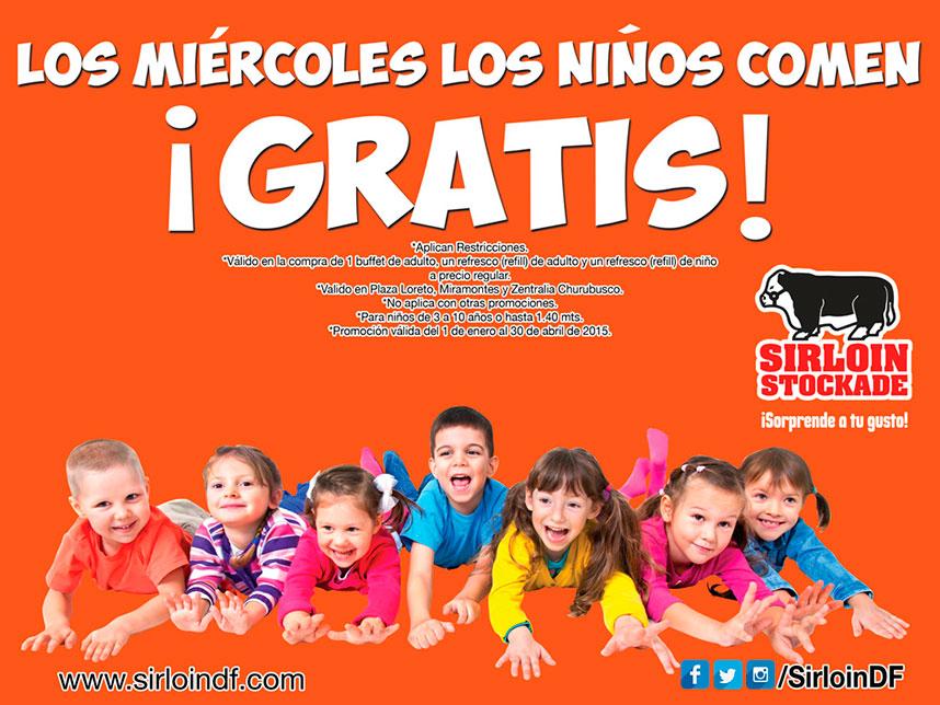 Sirloin Stockade: Miercoles los niños comen gratis (DF)