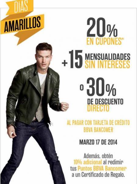 Palacio de Hierro: días amarillos marzo 17 con 30% de descuento