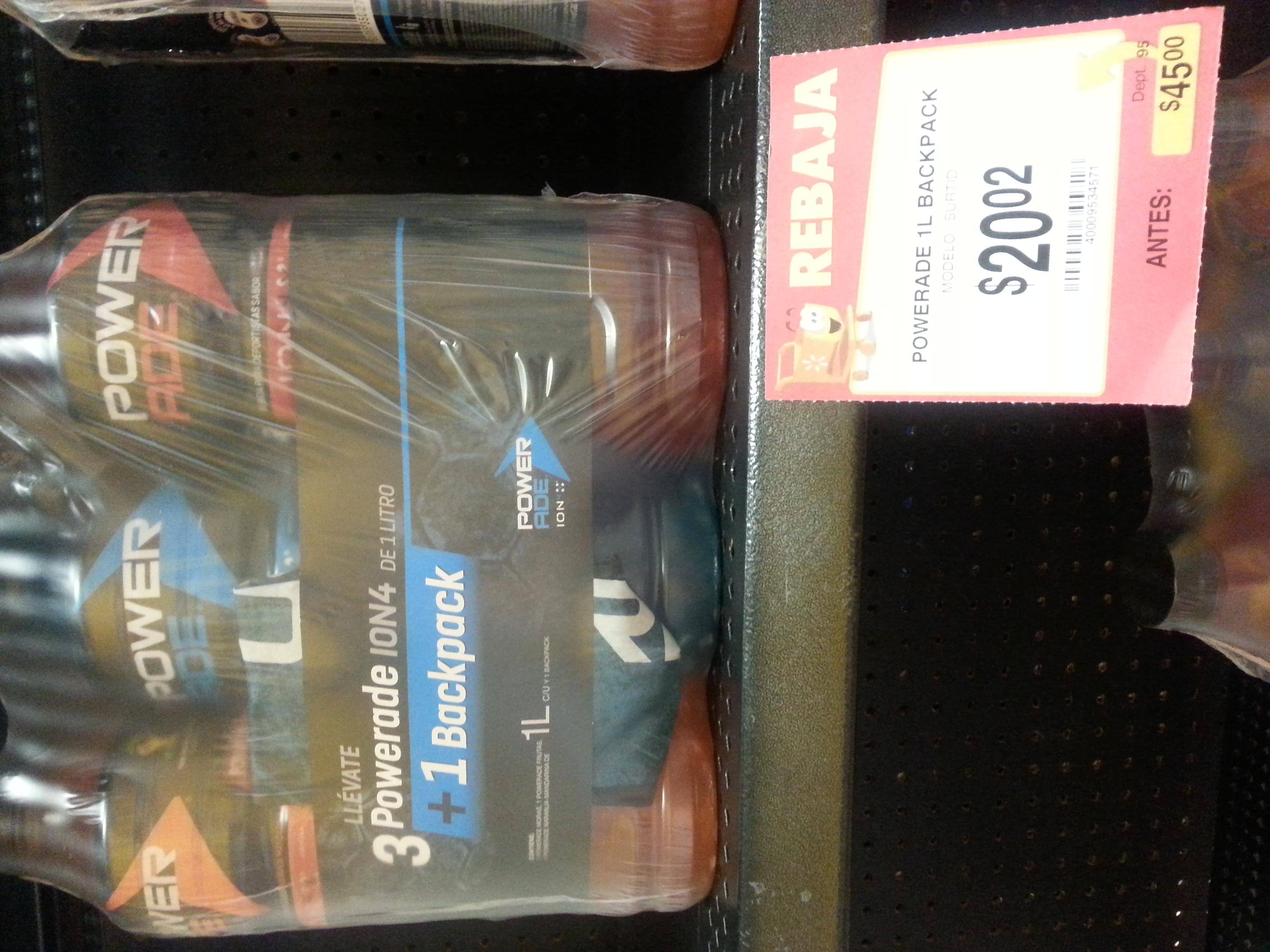 Walmart: bebida energética power ade y mochila $20