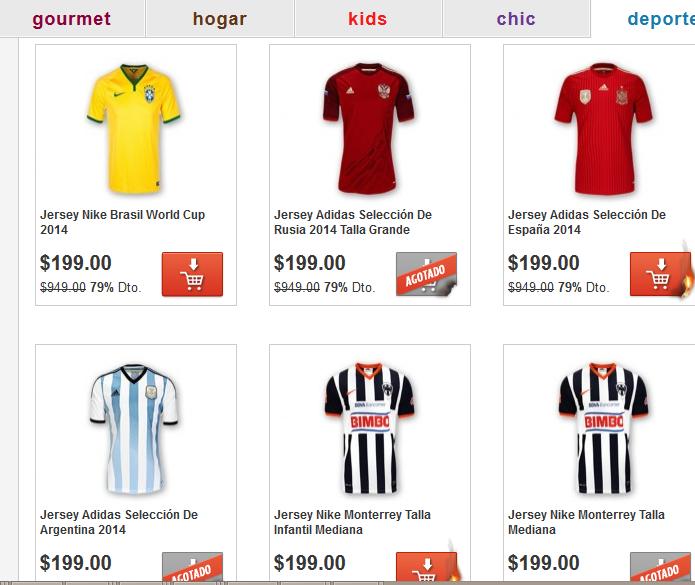Mequedouno: jerseys de soccer a $199