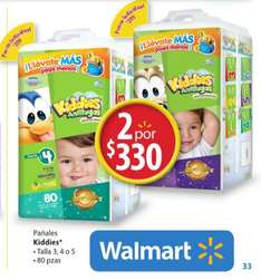 Walmart: 160 pañales Chicolastic Kiddies $330