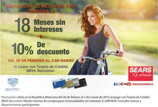 Sears: fin de semana Bancomer
