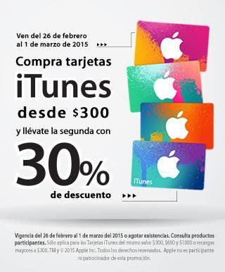 Promoción de tarjetas iTunes en iShop Mixup