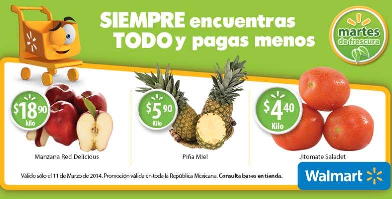 Martes de frescura en Walmart marzo 11: piña $5.90 el kilo y más