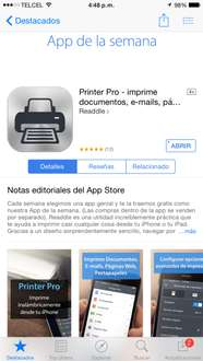 iTunes: Printer Pro gratis IOS
