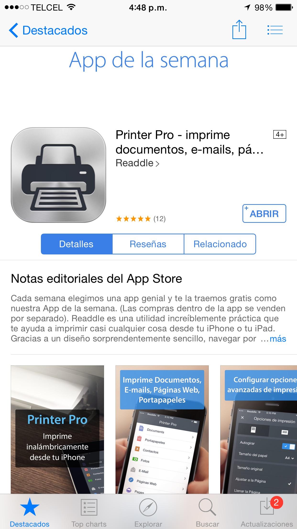iTunes: Printer Pro gratis IOS