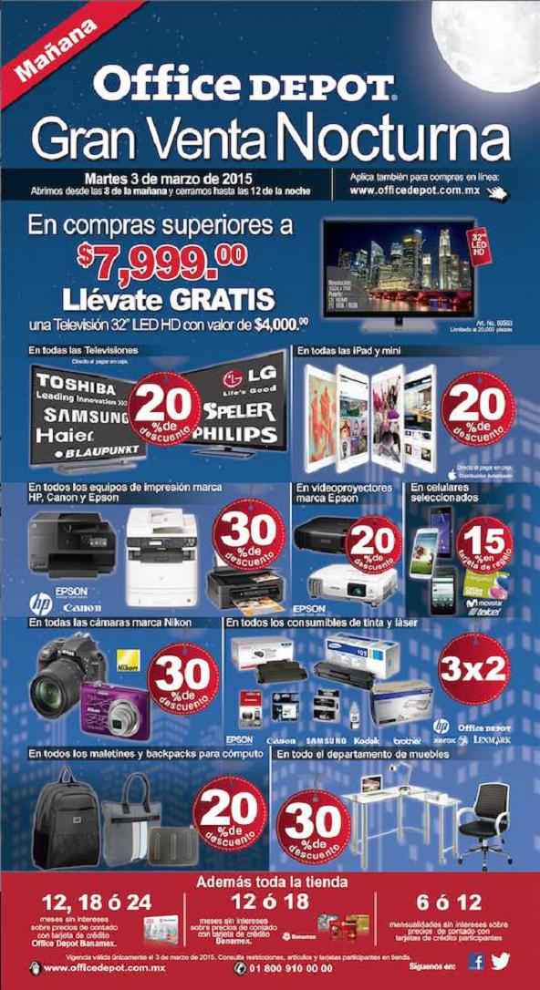 Office Depot Venta Nocturna 3 de Marzo, Online y tienda fisica