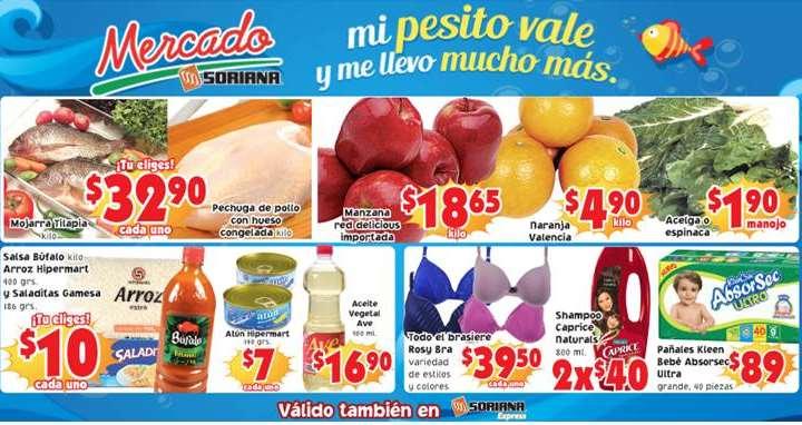 Ofertas de frutas y verduras en Soriana 11 y 12 de marzo: mojarra $32.90 y más