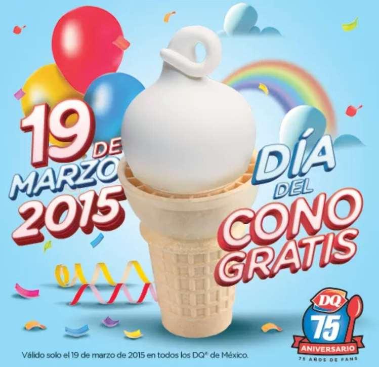 Día del cono gratis 2015 en Dairy Queen el 19 de marzo