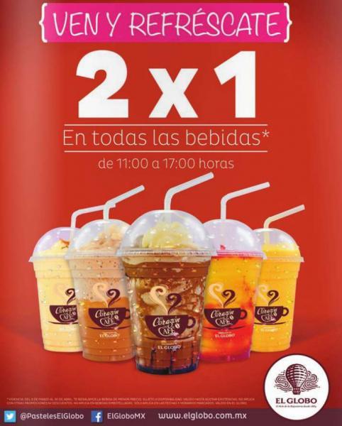 El Globo: 2x1 en bebidas y más