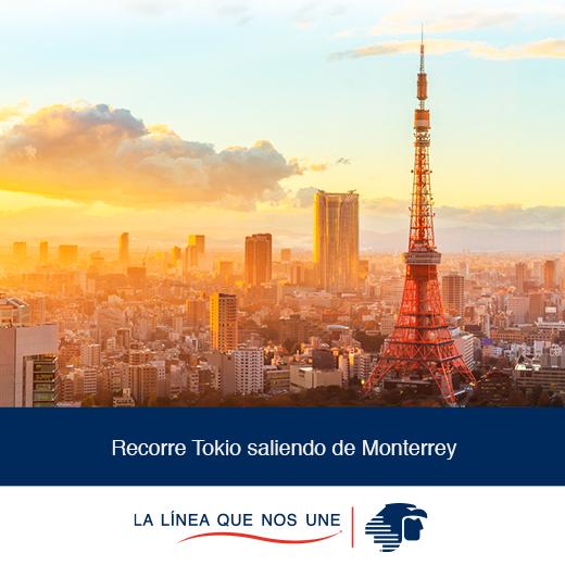 Vuelo redondo a Tokio saliendo de Monterrey desde 899 USD