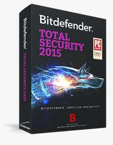 Bitdefender Total Security 2015 gratis por 9 meses
