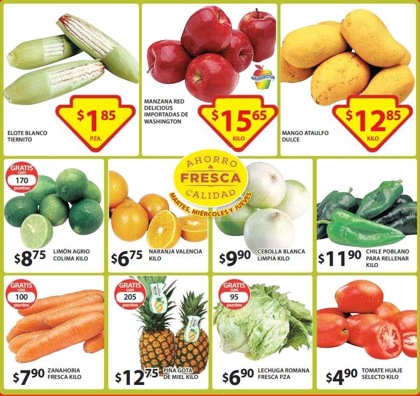 Soriana: filete basa rojo $29 el kilo y ofertas de frutas y verduras