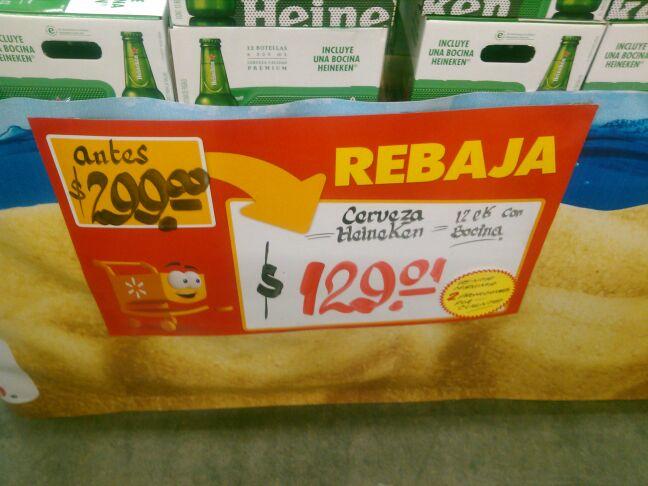 Walmart: Heineken 12 Botellas + Bocina $129