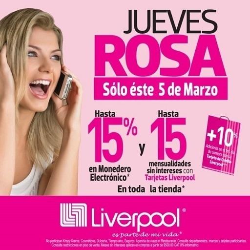 Liverpool: jueves rosa 5 de marzo