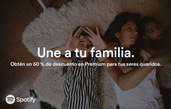 Spotify: cuentas adicionales con 50% de descuento
