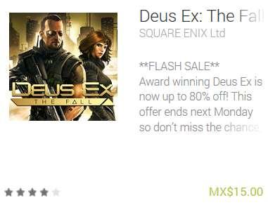 Ofertas de juegos para iPhone y Android: Tomb Riader, Deus Ex, Final Fantasy y +