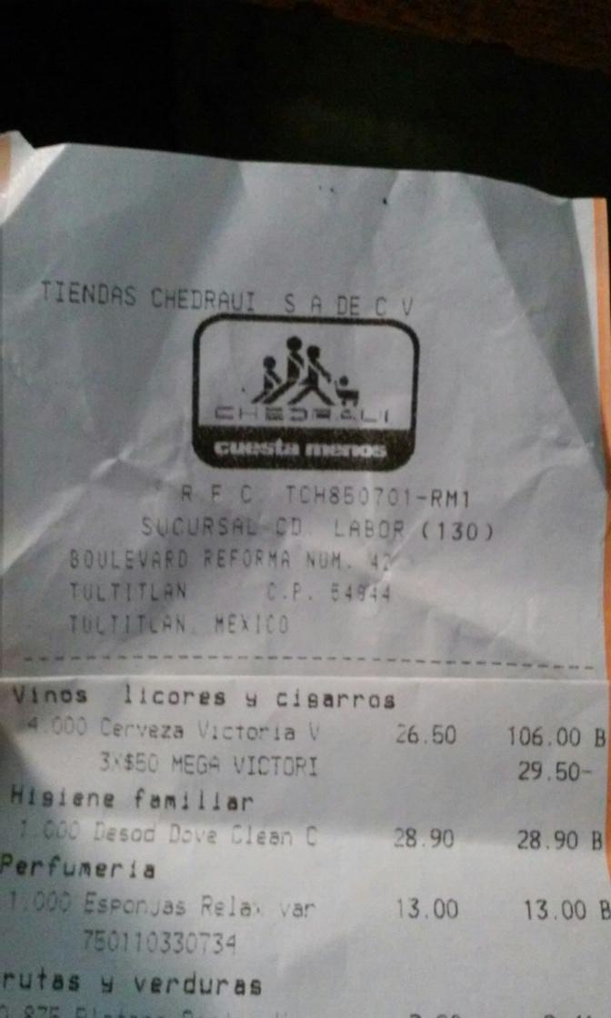 Chedraui: 3 Cervezas Victoria Mega 1.20 Lts en $50.00