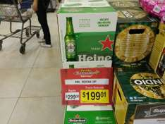 Superama: Cerveza Heineken, 12 botellas 355 ml, con bocina de regalo. $199.00