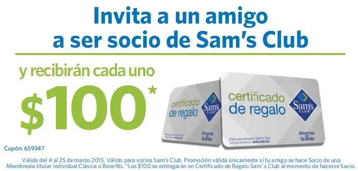 Sam's Club: $100 de crédito para cada uno al invitar a un amigo a sacar membresía