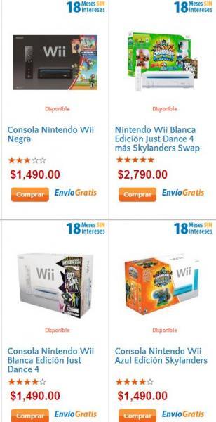 Walmart: Wii $1,490 y hasta 18 meses sin intereses