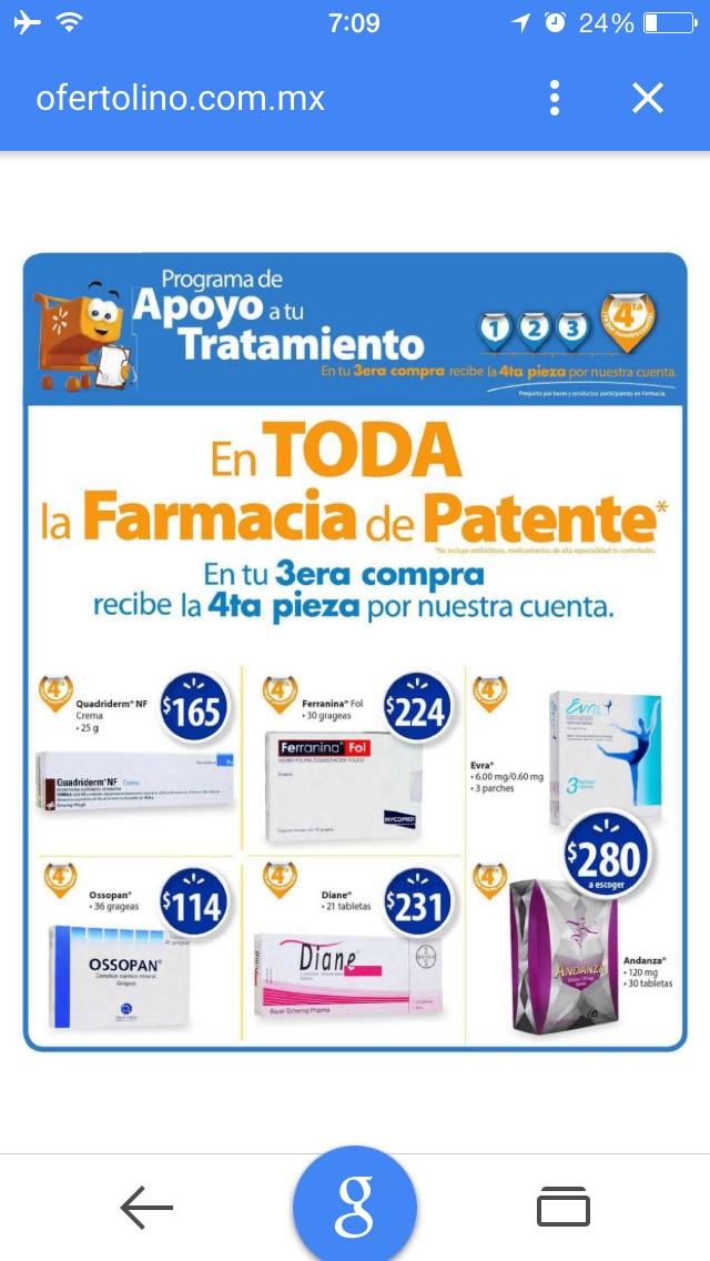 Walmart: 4x3 en alguna medicina de Patente