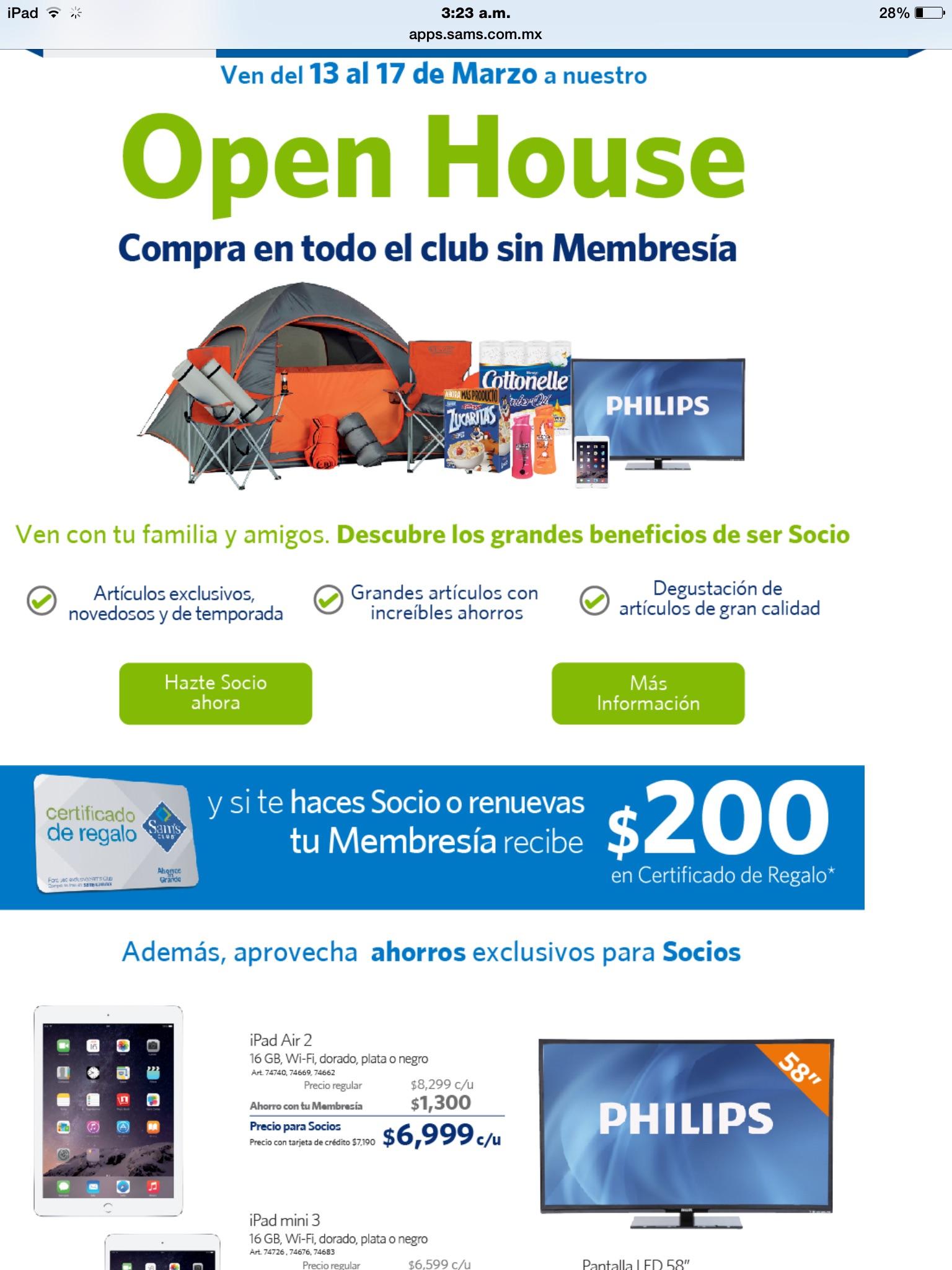 Sam's Club: $200 de bonificación al hacerte socio o renovar membresía el próximo fin