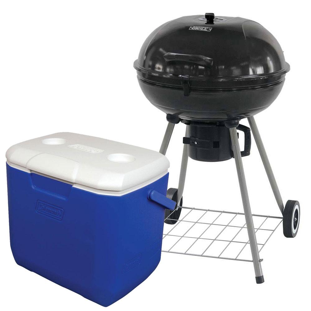 Walmart: Paquete asador de carbón 176 cm² +Hielera Coleman de 30QT $1,099