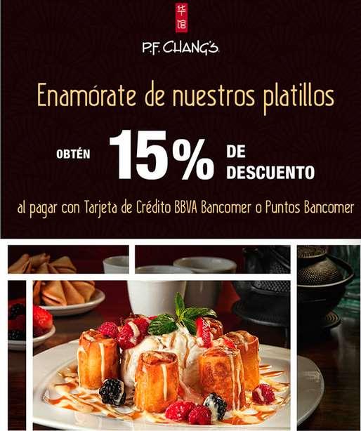 P.F. Changs: 15% de descuento con Bancomer