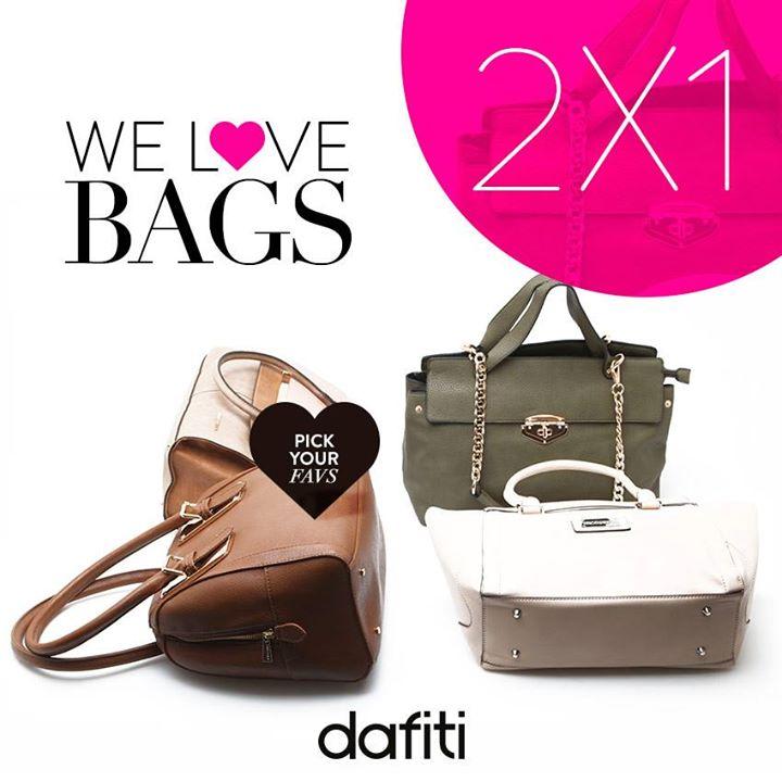 Dafiti: 2x1 en selección de bolsas