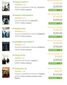 Xbox Store: Assassin's Creed 1, 3 o Revelations a $150 cada uno (usuarios Gold)