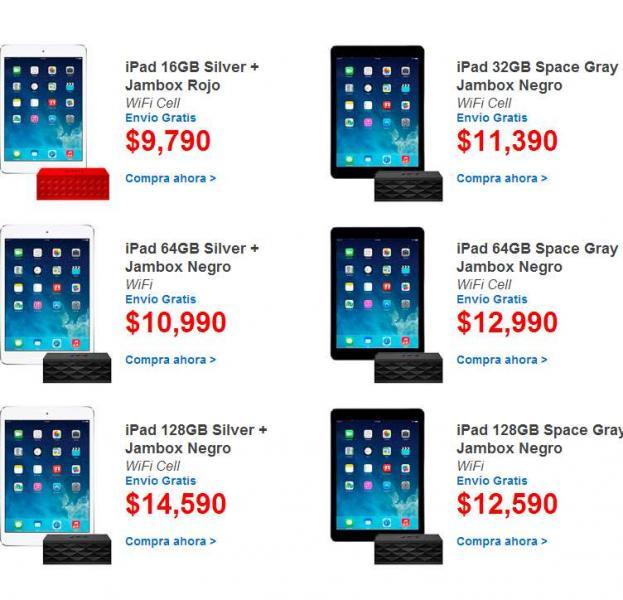 Walmart: bocina Jawbone gratis compran iPads Air seleccionadas