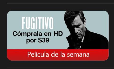 iTunes: Pelicula FUGITIVO HD por $39