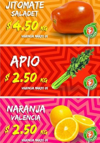 Miércoles de Plaza en La Comer marzo 5: naranja $2.50 el kilo y más