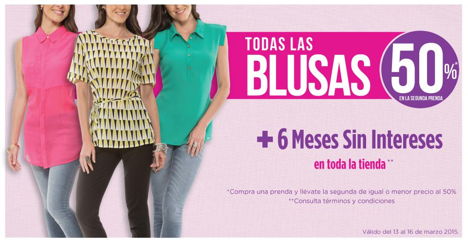 Suburbia: 50% de descuento en la segunda blusa